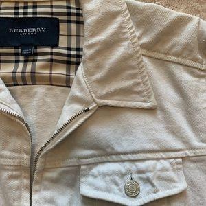 White Denim Burberry Jacket